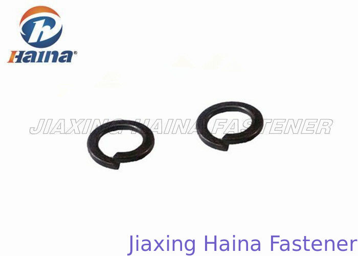 Square End Split Ring Lock Washer Black Oxide Alloy Steel For Metal Structures